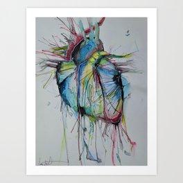 Circulating Colors Art Print