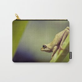 Arum lily frog on blue background - Macro Photography #Society6 Carry-All Pouch