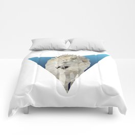 Low Poly Wolf Comforters
