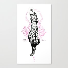 Blushy Serval Canvas Print