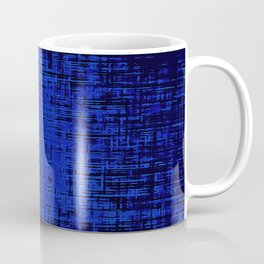 Woven Inkwell Blue and Royal Blue Abstraction Coffee Mug