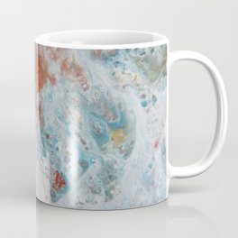 WHITE WASH | Fluid abstract art by Natalie Burnett Art Coffee Mug