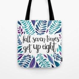 Fall Seven Get Up Eight — Blue Indigo Tote Bag