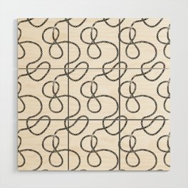 bicycle chain repeat pattern Wood Wall Art