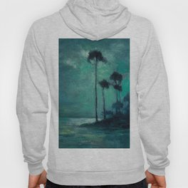 Tropical Nocturnal Landscape with Palms by Charles Warren Eaton Hoody