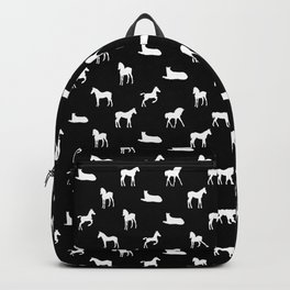 Foals All Over Pattern White Backpack