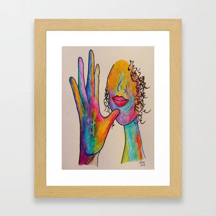 American Sign Language MOTHER Framed Art Print