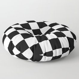 Checkered - White and Black Floor Pillow