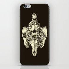 Coyote Skulls - Black and White iPhone & iPod Skin