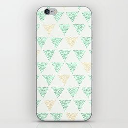 Dotted Triangle Print iPhone Skin