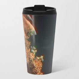 Seychellian palmtrees and the Milky Way Travel Mug