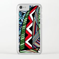 IT'S RAINING COLORS! (abstract geometric) Clear iPhone Case