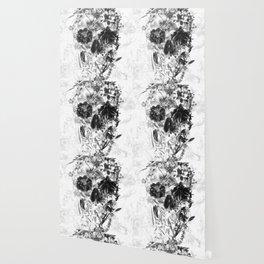 New Skull Light B&W Wallpaper