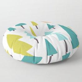 Trees & Day Moon Floor Pillow