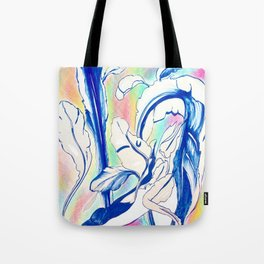 Plant in Blue Marker - Leaf of Life Miracle Leaf - Rainbow Colorful 2 Tote Bag