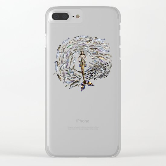 Mermaid in Monaco Clear iPhone Case
