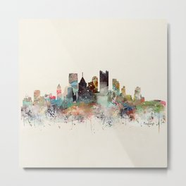 pittsburgh city skyline Metal Print