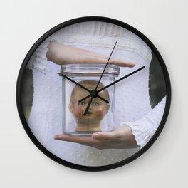 Doll in a jar Wall Clock