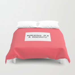 Morning Sex & Pancakes - by Laura Tubb Duvet Cover