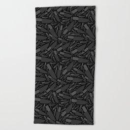 Knife Pattern Beach Towel