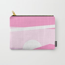 Minimalist pink abstract landscape Carry-All Pouch