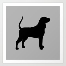 Coonhound Silhouette Art Print