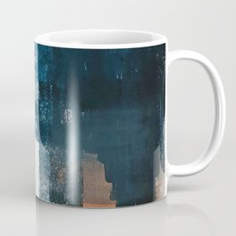 Vienna: a minimal, abstract mixed-media piece in pinks, blue, and white by Alyssa Hamilton Art Coffee Mug