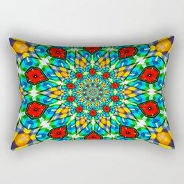 Folded Fabric Flower Rectangular Pillow