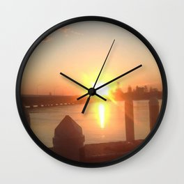 sunset explosion Wall Clock