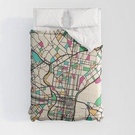 Colorful City Maps: Philadelphia, Pennsylvania Comforters