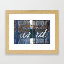 and... Framed Art Print