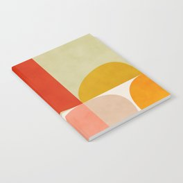 shapes of mid century geometry art Notebook