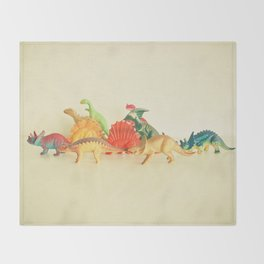 Walking With Dinosaurs Throw Blanket