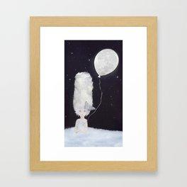 Cloudy Head Framed Art Print