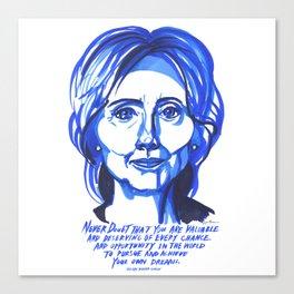 Hillary Rodham Clinton Canvas Print