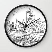 les mis Wall Clocks featuring Ciudad de mis amores. by SuperFlashArts!