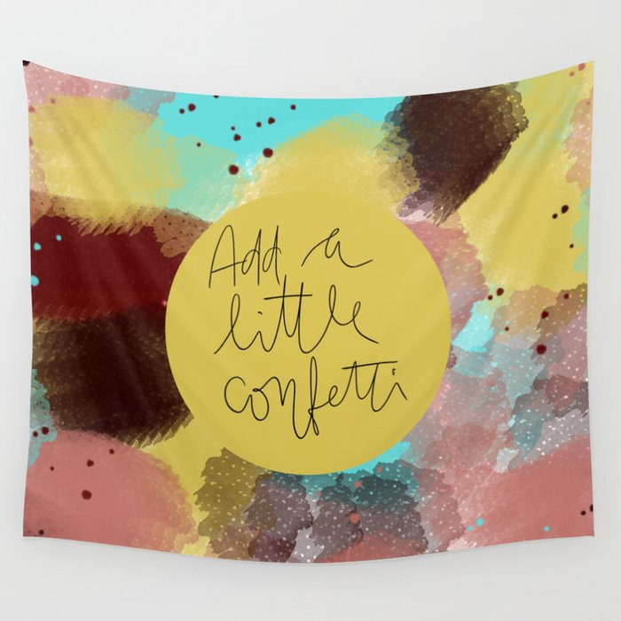 Add a little confetti Wall Tapestry