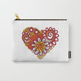 Bright Heart Doodle Carry-All Pouch