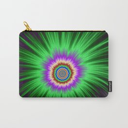 Green Star Burst Carry-All Pouch