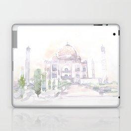 Watercolor landscape illustration_India - Taj Mahal Laptop & iPad Skin