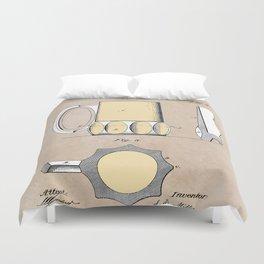 patent Beer Mugs Duvet Cover