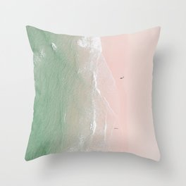 Ocean Lace Throw Pillow