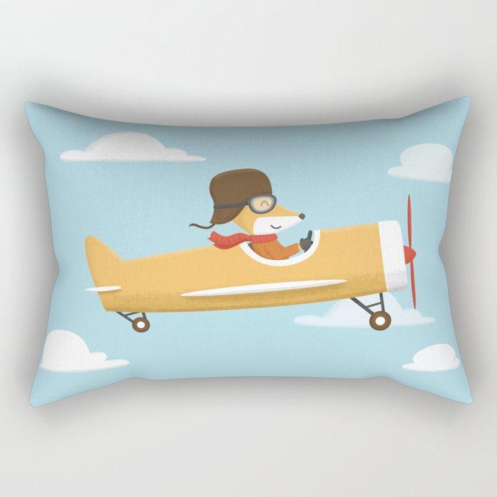 Mr. Fox is Flying Rectangular Pillow