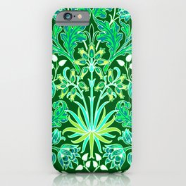 William Morris Hyacinth Print, Emerald Green iPhone Case