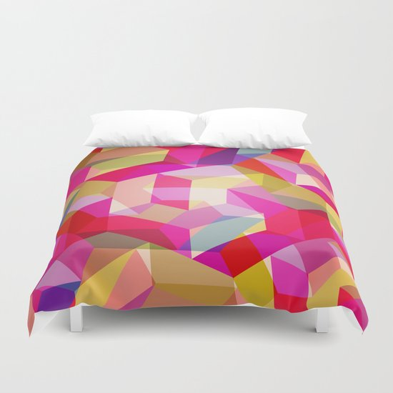 Colourful Twisted rectangles Duvet Cover