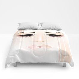 Rose Gold Girl Comforters