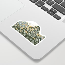 Geometric Mountain Sticker