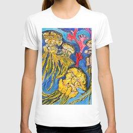 Jelly Fish    Oil Painting   #society6   #decor  #buyart T-shirt