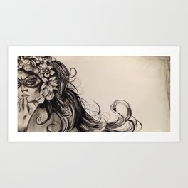 Doubtful Beauty Art Print