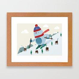 Beware the Yeti! Framed Art Print